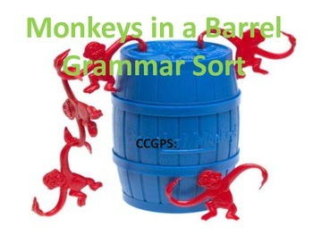 Monkey Themed Grammar Sort