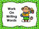 Monkey Themed Literacy Center Signs - polka dot