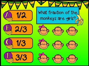 Monkey Themed Math Test Prep Practice for Smart Notebook