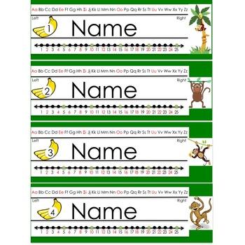 Monkey Themed Name Plate (editable)