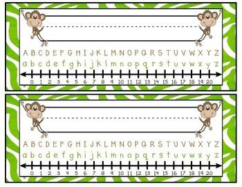 Monkey Themed Nameplates