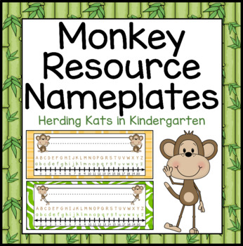 Monkey Themed Nameplates