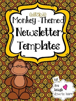 Monkey-Themed Newsletter Templates