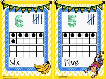 Monkey Themed Number Cards!