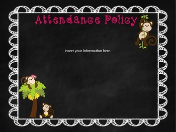 Monkey Themed Open House/Meet the Teacher PowerPoint Template (Editable)