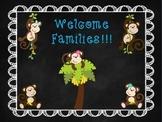 Monkey Themed Open House/Meet the Teacher PowerPoint Templ