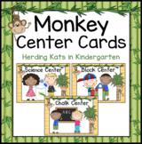 Monkey Themed Center Cards