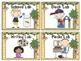 Monkey Themed Pocket Chart Lab Cards