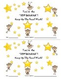 Monkey Themed Star Student Certificates