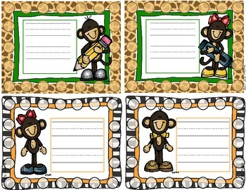 Monkey Themed Sticker Chart/Punch Card with Reward Coupons