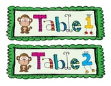 Monkey Themed Table Signs