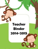 Monkey Themed Teacher Binder Covers or Dividers