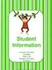 Monkey Themed Teacher Binder (EDITABLE)
