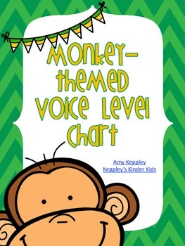 Monkey Themed Voice Level Chart