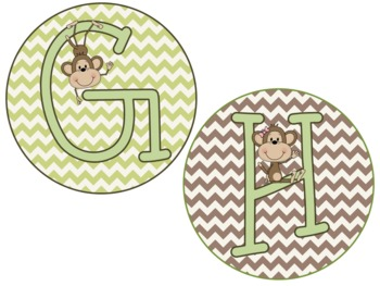 Monkey Themed Word Wall {EDITABLE}