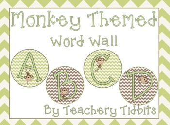 Monkey Themed Word Wall {EDITABLE}