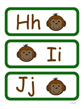 Monkey Themed Word Wall Headers