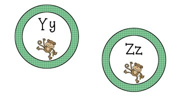 Monkey Themed Word Wall Labels