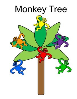 Monkey Tree COLOR Adapted BOOK, Speech Therapy, Autism, Early Childhood