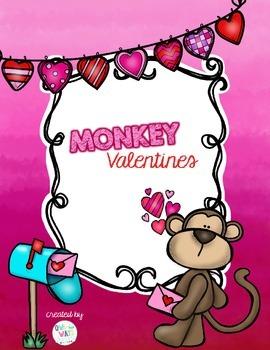 Monkey Valentine: Card/Treat Bag