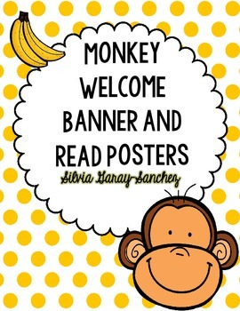 Monkey Welcome Banner and READ Posters