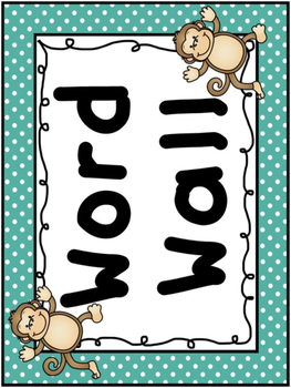 Monkey Word Wall