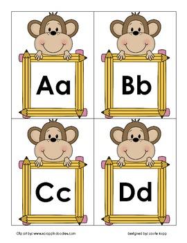 Monkey Word Wall Header Labeling Set