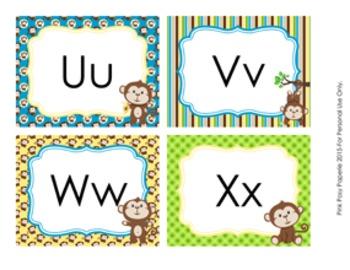 Monkey Word Wall Headers