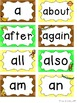 Monkey Word Wall Headers & 200 Words - Polka Dot