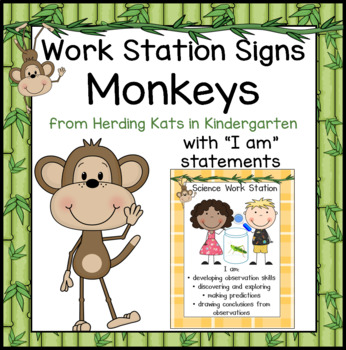 Monkey Work Station Signs