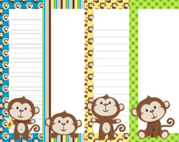 Monkey Writing Paper - 3 Styles