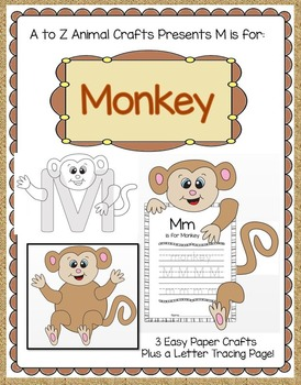 Monkey And Letter M Craft By Crafting Education Tpt