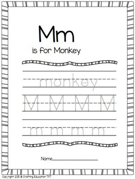 "Monkey and Letter ""M"" Craft"