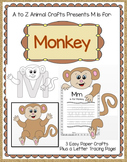 """Monkey and Letter """"M"""" Craft"""