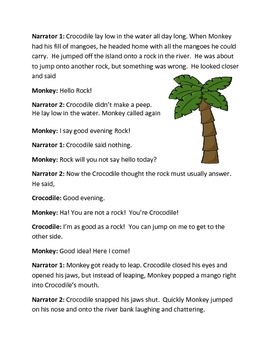 Monkey and The Crocodile Reader's Theater