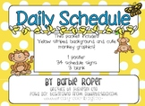 Monkey daily schedule