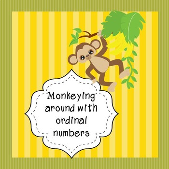 Monkey friends ordinal numbers (ordinal numbers 1st to 20th)