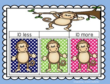 Monkey in the Middle (A 10 more, 10 less activity)