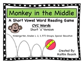 Monkey in the Middle CVC Short 'a' Word Reading Game