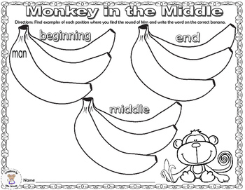 Phonics- Letter Sounds - Monkey in the Middle - Letter M