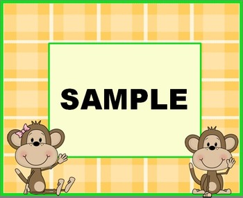 Monkey labels (Avery 8164) - 6 labels per page