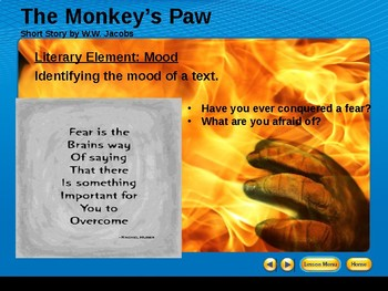 Monkey's Paw Mood Lesson
