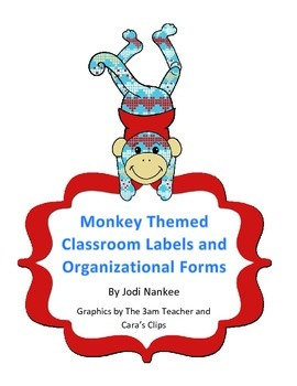 Monkey-themed Classroom Organizational Items