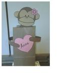 Monkey valentine treat bag