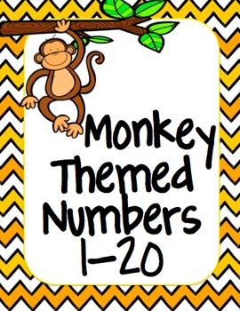 Monkey/Jungle Number posters 1-20
