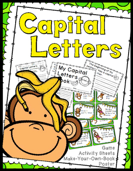 Capital Letters Game, Worksheets, Book Making Activity, Anchor Chart
