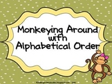 Monkeying Around Alphabetical Order mini lesson