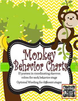 Monkeying Around Behavior Chart System (monkey theme)