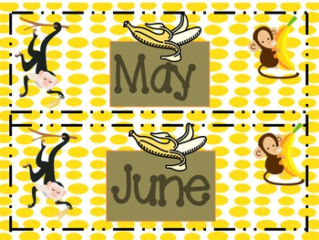 Monkeying Around Calendar Template