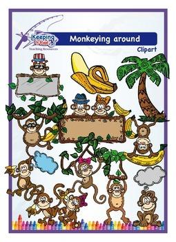 Monkeying Around Clip Art